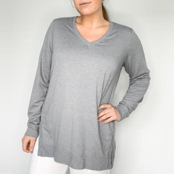 Logo Lounge Grey Tunic Sweatshirt Long Sleeve Tee